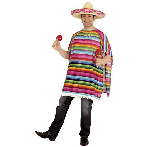 Poncho Amigo, bunt gestreift, (Kostüm Amigos 3 Die)