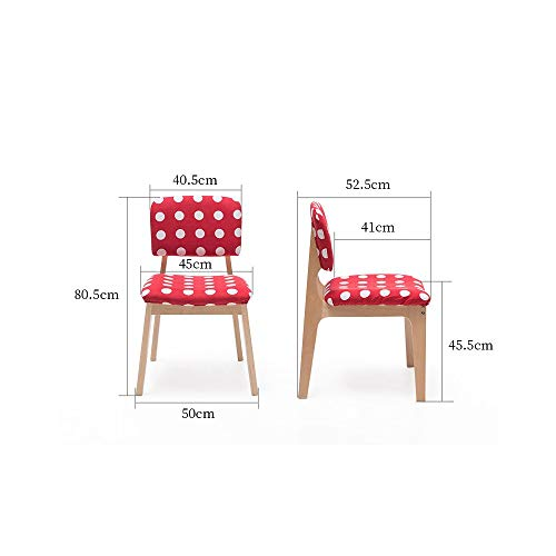 Afanyu Afanyu Moderner Stuhl, Rückenlehne Holzstuhl Lounge Stuhl Kreative Verhandlung Stuhl Startseite Zurück Stuhl Wirtschaftlich Esszimmerstuhl,B - Moderner Kunststoff-stuhl