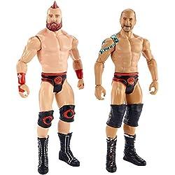 WWE- The Bar, Sheamus e Cesaro Battle Pack con Due Personaggi Snodati in Costume da Combattimento, Giocattolo per Bambini 6+ Anni, 15 cm, GBN63