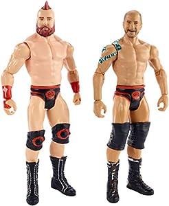 WWE - Pack de 2 figuras de acción luchadores Sheamus vs Cesaro Juguetes niños +6 años (Mattel GBN63)