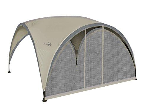 Bo Garden 4472217Party Shelter Paredes Lateral mosquitera con Puerta poliéster Negro 370x 239x 41,5cm, Talla M