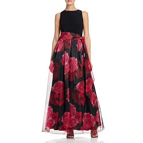 Eliza J Womens Sheer Floral Print Evening Dress