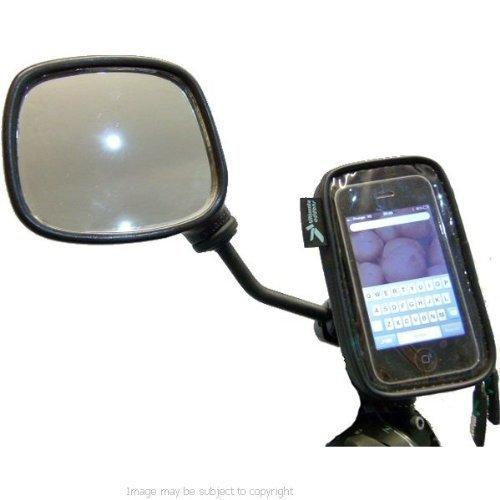 IPX4 Motorrad Roller Moped Spiegel Halterung Wasserdicht für Apple iPhone 5 5S 5C - 8mm -16mm