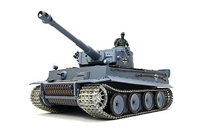 """RC Panzer """"German Tiger I"""" Heng Long 1:16 Grau, Rauch&Sound und 2,4Ghz Fernsteuerung- Pro Modell   ES-TOYS Edition von Heng Long"""