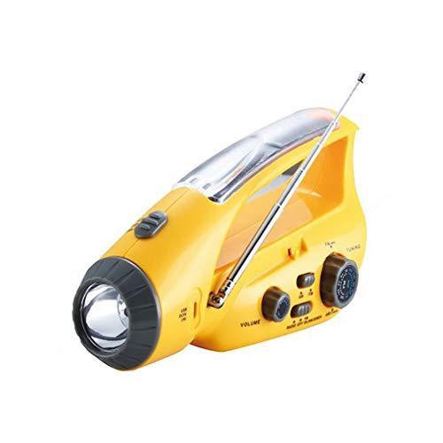 Solar LED Taschenlampe Handkurbel Dynamo Notlicht FM AM Radio USB Ladegerät