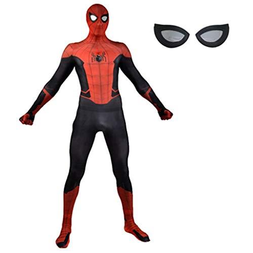 YUNMO Fun Ausrüstung 3D Digitaldruck Film Anime Charakter Expedition Spider Man Strumpfhosen Jacke Cosplay Anime Kostüm Halloween Kostüm maskierte Kleidung (Color : A, Size : XXL) (Spiderman-ausrüstung)