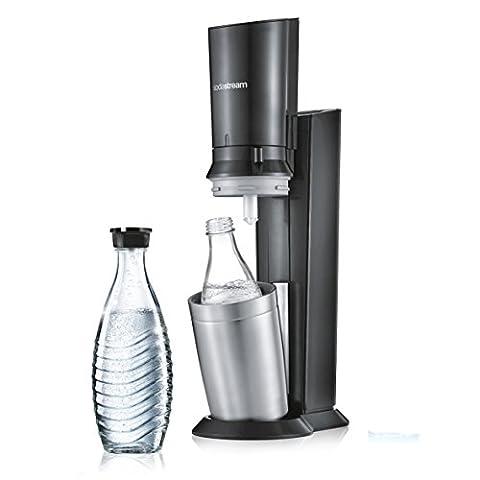 SodaStream CRYSTAL 2.0 Umsteiger Wassersprudler zum Sprudeln von Leitungswasser, mit spülmaschinenfester Glasflasche für Ihr Sprudelwasser! inkl. 1 Glaskaraffe 0,6l OHNE Zylinder; Farbe: