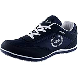 Lancer Men's Blue Mesh Running Shoes - 8 UK (PERTH NBL-WHT-42)