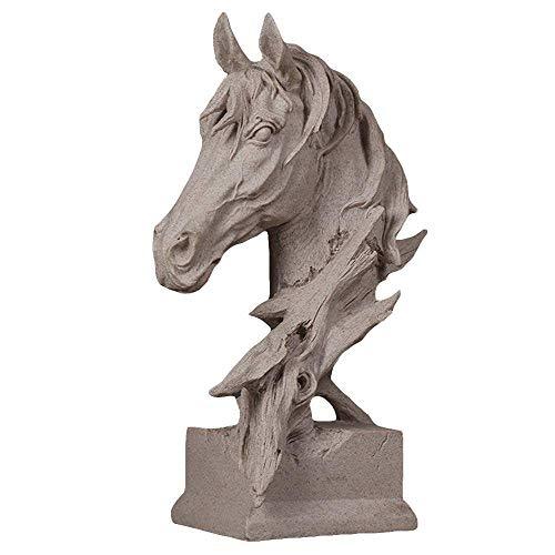 Decora Handbemalte Harz Tier Statue,Pferdekopf Skulptur, Hauptdekorationen Figuren,Abstrakte Skulpturen Dekorative,Geeignet FüR Wohnzimmer, Schlafzimmer, Büro,Small -