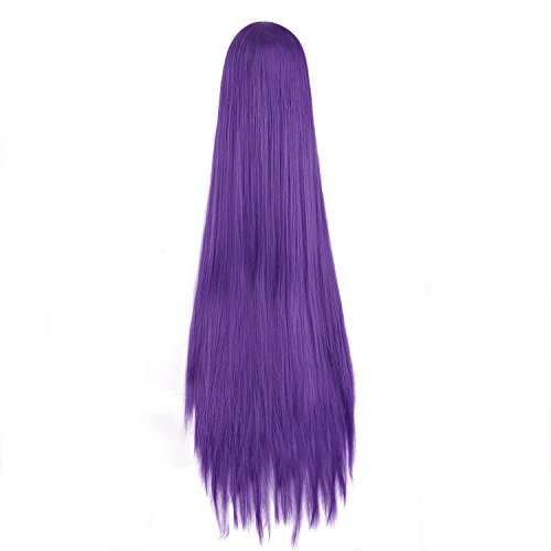 "MapofBeauty 40"" 100cm Anime Costume Long Straight Cosplay Wig Party Wig (Dark Purple)"