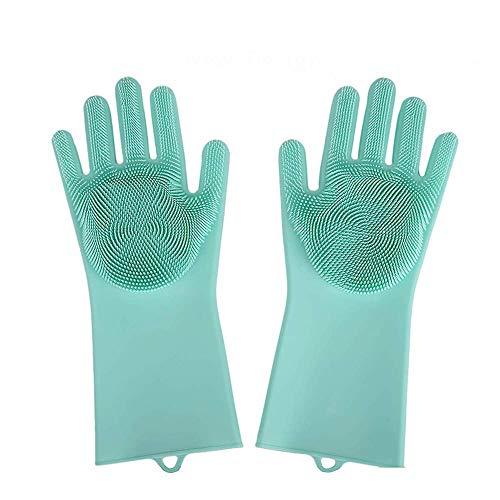Sixcup  Gummihandschuh Stronghand Reinigung Handschuhe Küche Wasserdichte Gummi Handschuhe Chemikalienschutz-Handschuhe Reinigung Handschuhe Küche Wasserdichte (34x14.5cm, Grün#02)