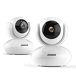 ANNKE Home Security 1280x 720P HD CCTV Wireless Network Cloud IP Camera, Plug& Play, QR Code Scan, Mobile View, Two-ways Audio Talk, Build-in IR-Cut Filter, Pan& Tilt, Motion Detection