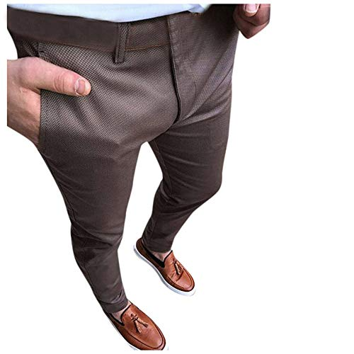 Aiserkly Herren Business Hose erweiterbare Anzughose Lange Slim Fit Plain-Front Hose Cargohose Freizeithose -