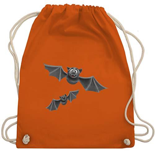 Sport Kostüm Halloween - Halloween - süße Fledermäuse - Unisize - Orange - WM110 - Turnbeutel & Gym Bag