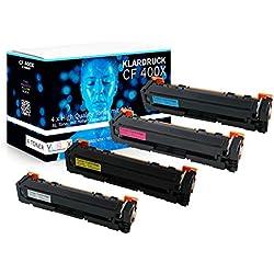 4er Set XL Toner kompatibel zu HP 201X 201A HP CF400X - CF403X für HP Color Laserjet Pro MFP M277dw M274n M274dn M252dw M252n