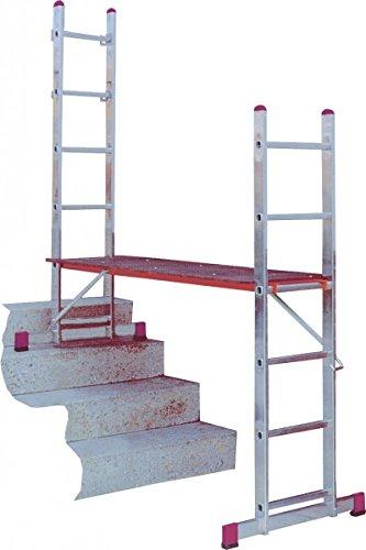KRAUSE  lalh011Leiter Gelenk mit 2x 6Trittstufe, 2.95m/3M/3.75m Höhe Stehleiter, 1Höhe letzte Sprungbrett, 1.6m Höhe Stehleiter, 2.75m Länge