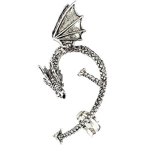 Andonger Gotico della roccia punk dell'orecchino classico drago dell'orecchio dell'involucro del polsino dell'orecchio