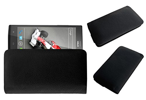 Acm Rich Leather Soft Case For Lava Xolo Q2000 Mobile Handpouch Cover Carry Black  available at amazon for Rs.389
