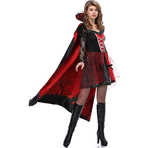 Lady Ghost Soul Kostüm - Chengzuoqing-CL Halloween Damenkostüme Lady Halloween Kostüm for Erwachsene Cape Red Hood Party anziehen (Größe : L)