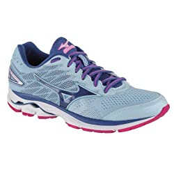 Mizuno Wave Rider W Running Shoes For Women, Angel Falls True Blue Electric