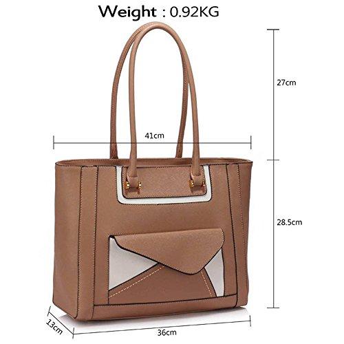 TrendStar Damen-Modedesigner -Qualität Taschen Frauen Trendy Hot Selling Handtaschen Große Schultertasche . Nude