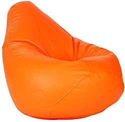 SM ORANGE BEAN BAG XL SIZE SUPER CLASSIC QUALITY (Without filling only cover)