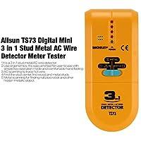 LasVogos Allsun TS73 Digital Mini 3 en 1 Stud Metal AC Detector medidor de medidor probador