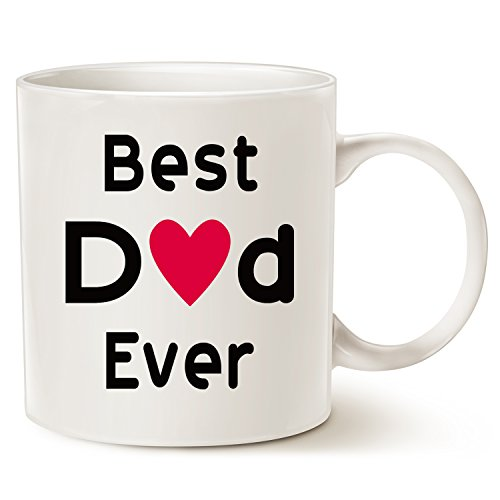 This might be wine christmas gifts best dad coffee mug – best dad ever – unico natale o compleanno, idea regalo per papà festa del papà papà tazza in porcellana bianca, 396,9 gram