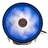 Mars Gaming MCPURGB - Disipador de CPU (RGB, 12 cm, Heat Core Touch, Soporte Universal) Color Negro