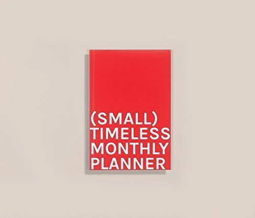 Timeless Monthly Planner (SMALL). 135x200mm.