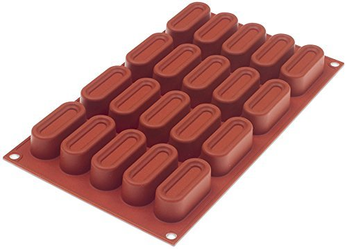 Silikomart orange antihaftbeschichtet gekerbten Oval–20Formen