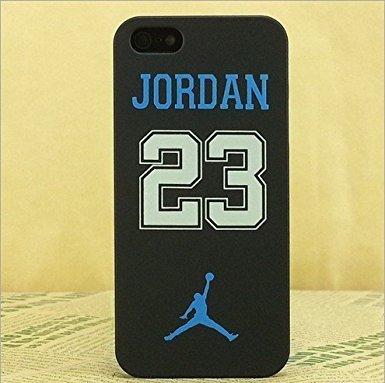 Air Jordan Luminous PC BLACK Hard Case for Apple Iphone 5/5S/5SE, Crack Pink NO:23 Blue