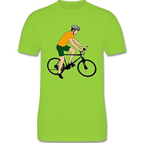 Radsport - Fahrradfahrer Citybike Radfahrer - Herren Premium T-Shirt Hellgrün