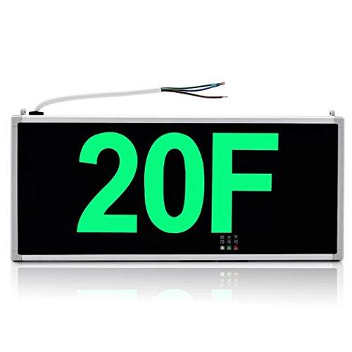 Bodenschilder Marke Stock Nummer LED Einkaufszentrum Schule Industrial Park Bodenmarkierung Notfall Evakuierung Lichter ( Farbe : 20F )