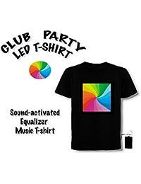 LED T-Shirt, Equalizer, Party, Club, Disco Hingucker Größe L (II)