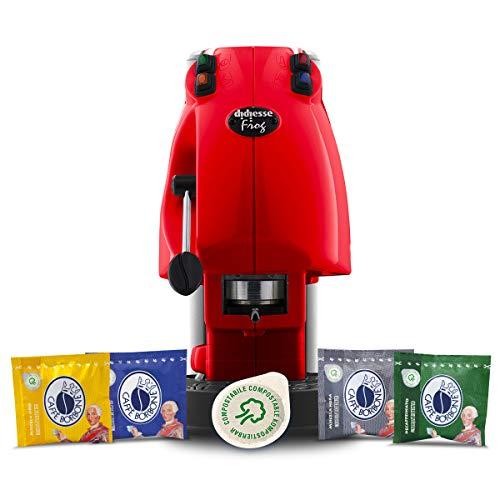 Didiesse Frog Revolution Magica Emozione pack (Macchina da Caffè a Cialde + 60 capsule), 650 W, Rosso Pieno