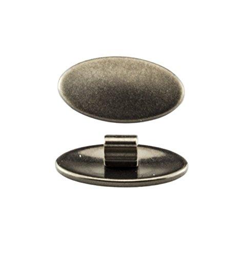 Edison & King Nasenpads für Brillen zum Austauschen - Brillenpads, Nasenauflage, Silikonpads, Titanpads - Verschiedene Formen, Größen, Materialien (Titan, oval, gesteckt)