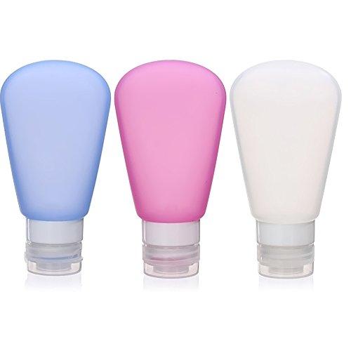 3 Pcs 89ml Portable Rechargeable Bouteille Vide Parfum Voyage En Forme Fan Silicone Atomiseur Pump Pulvérisateur Bottle Set