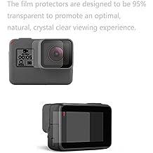 Shoot® Accesorios de cámara película LCD UltraClear Protector de pantalla de vidrio templado para GoPro Hero 5Cámara de acción