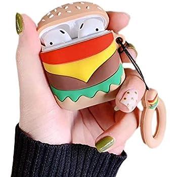 liuxi9836 Hamburger PodSkinz Airpod Case Niedliche 3D
