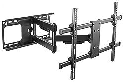 RICOO Universal TV Wandhalterung S4764 Fernseh Halterung Schwenkbar Neigbar Aufhängung auch für Curved LCD Fernseher Wand Halter | ca. 94-178cm / 37-70 Zoll | VESA 300x200 600x400 | Schwarz