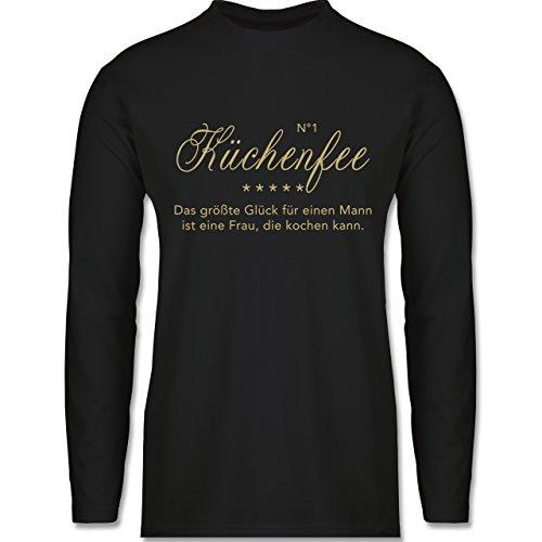 Küche - N°1 Küchenfee - Longsleeve / langärmeliges T-Shirt für Herren Schwarz