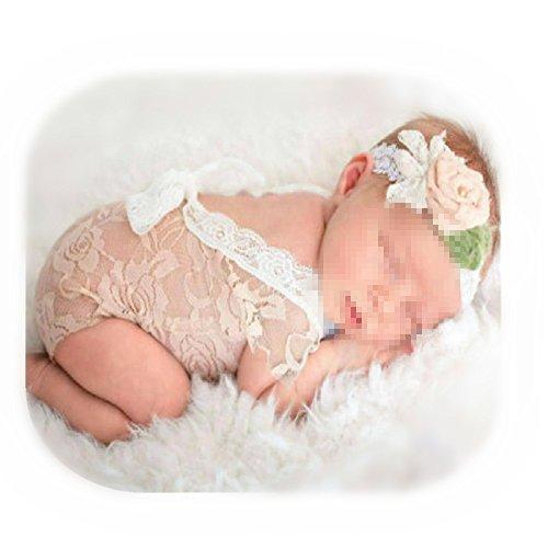 Baby Kostüm Fotografie Requisiten Neugeborene , Neugeborene Säuglingsbaby-Spielanzug Spitze Stütze OverallPrinzessin-Kleidung (Khaki)