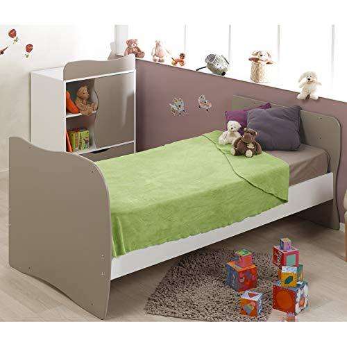 Imagen para Alfred & Compagnie - Cuna Convertible en Cama con cajón (70 x 140 cm), Color Beige y Blanco