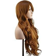 """Ambielly 32""""/ 80 cm De las mujeres Peluca Largo Rizado Ondulado Cabello Fiesta Cosplay Peluca pedazo de cabello Peluca (marrón)"""