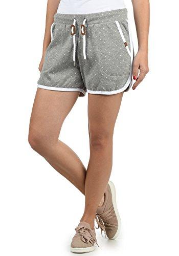 Blend She Sanya Damen Sweatshorts Bermuda Shorts Kurze Hose Mit Fleece-Innenseite Und Punkte-Print Regular Fit, Größe:M, Farbe:Zink Mix (70815)