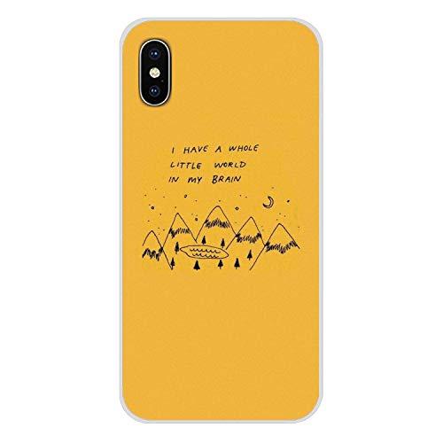 Handy-Shell Fall Hippie Ästhetik gelbe Muster für iPhone X XR XS MAX 4 4S 5 5S 5C SE 6 6S 7 8 Plus iPod Touch 5 6-in der Hälfte, Bilder 9 für iPhone 4S (Tiger-ipod-touch-fall)