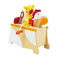La bella scatola in legno con cavallo e cavaliere non è solo un pratico contenitore, ma anche un giocattolo originale. Perché i simpatici personaggi con articolazioni mobili ispirare la fantasia.