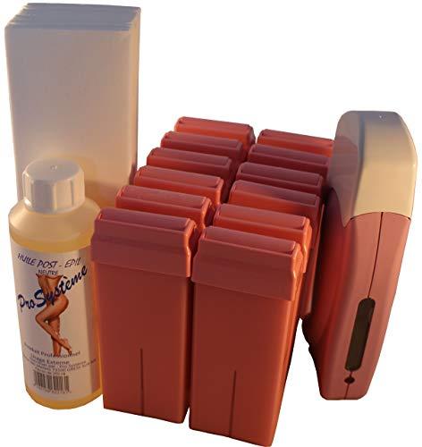 Epilwax Kit Depilacion Calentador de Cera Roll On Tibia Fundidor Electrico Profesional Easy Wax Depilación...