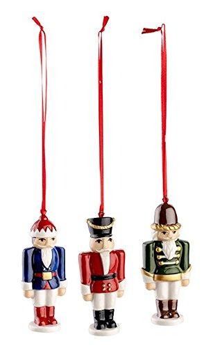 Nussknacker Ornamente (Villeroy & Boch Nussknacker-Ornamente, 16 x 12,5 x 6 cm, rot, Hartporzellan)